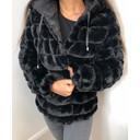 Lulu Padded Faux Fur Reversible Coat - Black - Alternative 3