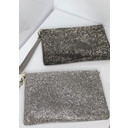 Diamante Clutch with Strap - Silver - Alternative 1