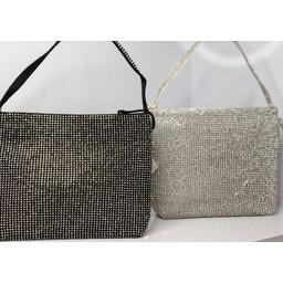 Malissa J Crystal Dolly Bag - Black