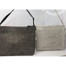 Malissa J Crystal Dolly Bag - Silver