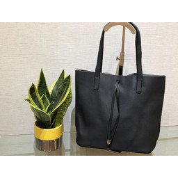 Lucy Cobb Leather Look Tote  - Black