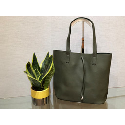 Lucy Cobb Leather Look Tote  - Green