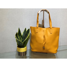 Lucy Cobb Leather Look Tote  - Mustard
