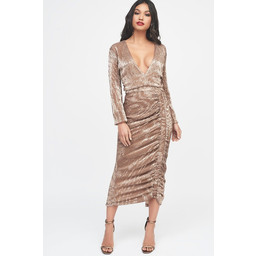 Lavish Alice Sequin Midi Dress - Gold