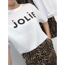 Jolie Glitter Tee - White