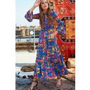 Yana 3/4 Sleeve Maxi Dress - Majorelle