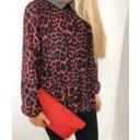 Zara Animal Print Bead Top - Red Leopard Print - Alternative 2