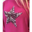 Saffron Sequin Star Jumper - Fuchsia - Alternative 1