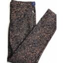 Colette Metallic Animal Print Trousers - Silver Black