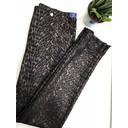 Rose Modern Animal Velour Trousers - Black Copper - Alternative 2