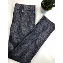 Rose Snake Metallic Print - Navy