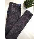 Rose Marble Full Length Trousers - Black