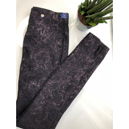 Robell Trousers Rose Marble Full Length Trousers - Black