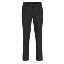 Robell Trousers Marie Jacquard Trousers - Black