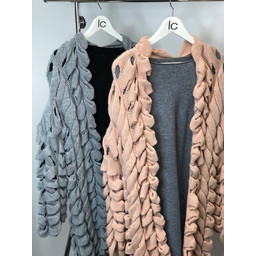 Lucy Cobb Leah Long Loop Knit Cardigan - Grey