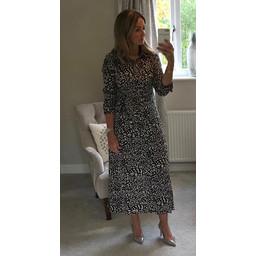 Lucy Cobb Teegan Print Maxi Shirt Dress in Stone