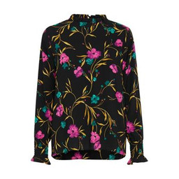 B Young Jayleen Smock Blouse - Black Multi