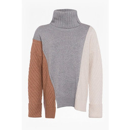 French Connection Viola Knits High Neck Jumper - Grey Mix