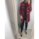 Vanity Zip Cardigan  - Red Leopard Print - Alternative 1