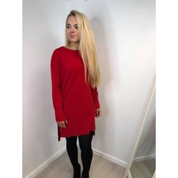 Lucy Cobb  Tori Step Hem Tunic - Red