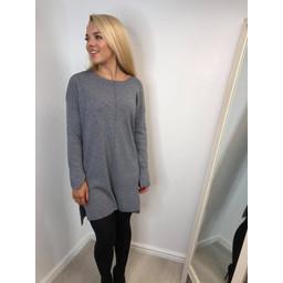 Lucy Cobb  Tori Step Hem Tunic - Grey