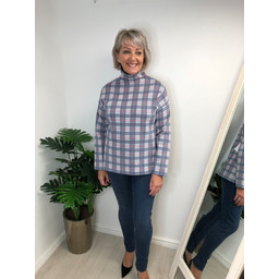 Alice Collins Patsy Funnel in Denim Check