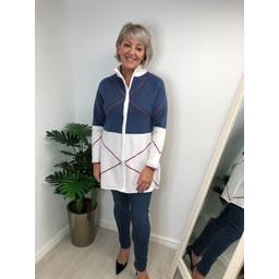Alice Collins Keira Knitted Jacket - Denim