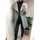 Anita Belted Waterfall Coat - Grey - Alternative 1