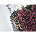 Zara Beaded Collar Tunic - Leopard Print - Alternative 1