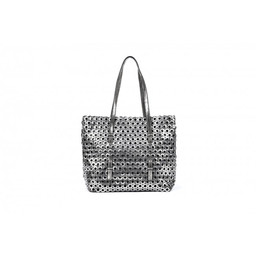 Malissa J Eyelet Shopper - Pewter