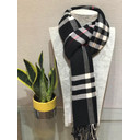 Check Scarf - Black