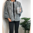 Pheobe Faux Fur Jacket - Grey