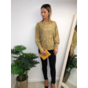 Aida Leopard Print jumper - Mustard
