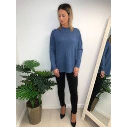 Lucy Cobb Janet Jumper in Denim Blue