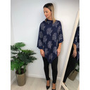 Sparkle Tree Poncho - Navy