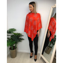 Sparkle Tree Poncho - Orange