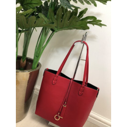 Lucy Cobb Reversible Tote in Red