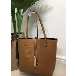 Lucy Cobb Reversible Tote in Camel