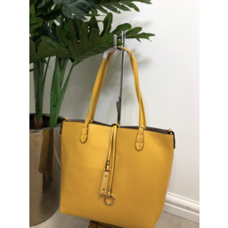 Lucy Cobb Reversible Tote in Mustard