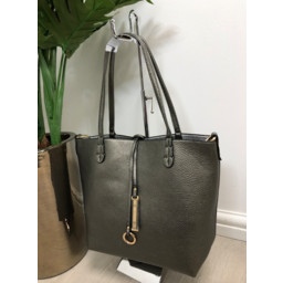 Lucy Cobb Reversible Tote - Pewter