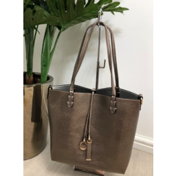 Lucy Cobb Reversible Tote in Rose Gold
