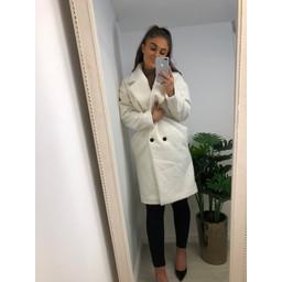 Glamorous Boucle Coat - Cream