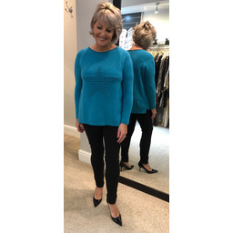 Lucy Cobb Star Jumper in Teal