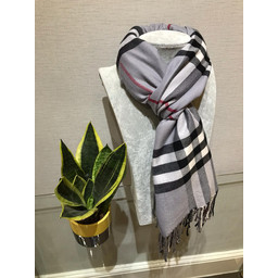 Lucy Cobb Check Scarf in Grey