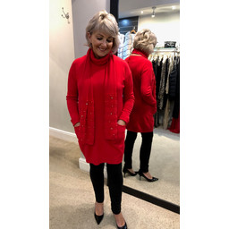 Lucy Cobb Sasha Scarf Tunic in Red
