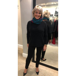 Lucy Cobb Star Jumper in Black