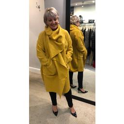 Lucy Cobb Sophia Snood Neck Jacket - Mustard