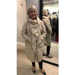 Lucy Cobb Sophia Snood Neck Jacket - Stone