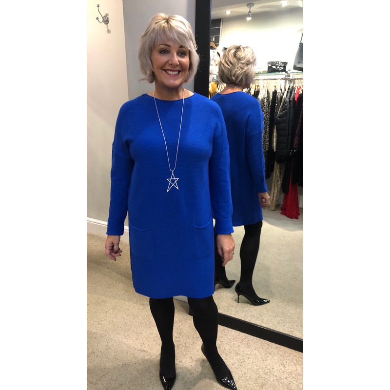 online sale latest selection of 2019 low cost Lucy Cobb Raven Ribbed Jumper Dress Royal