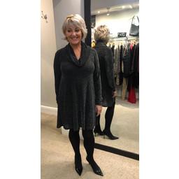 Lucy Cobb Alice Cowl Neck Tunic in Black